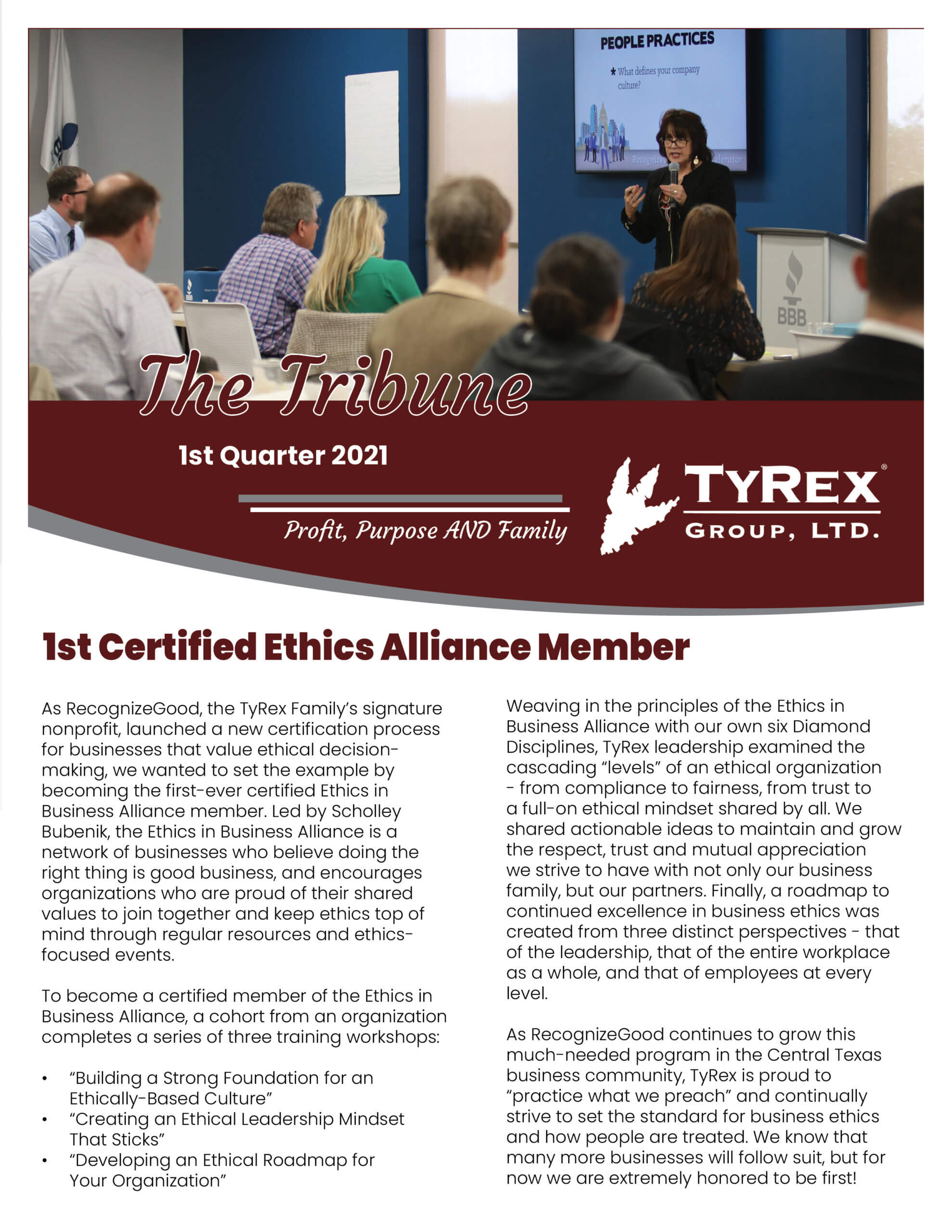 TyRex Newsletter Q1 (2021)