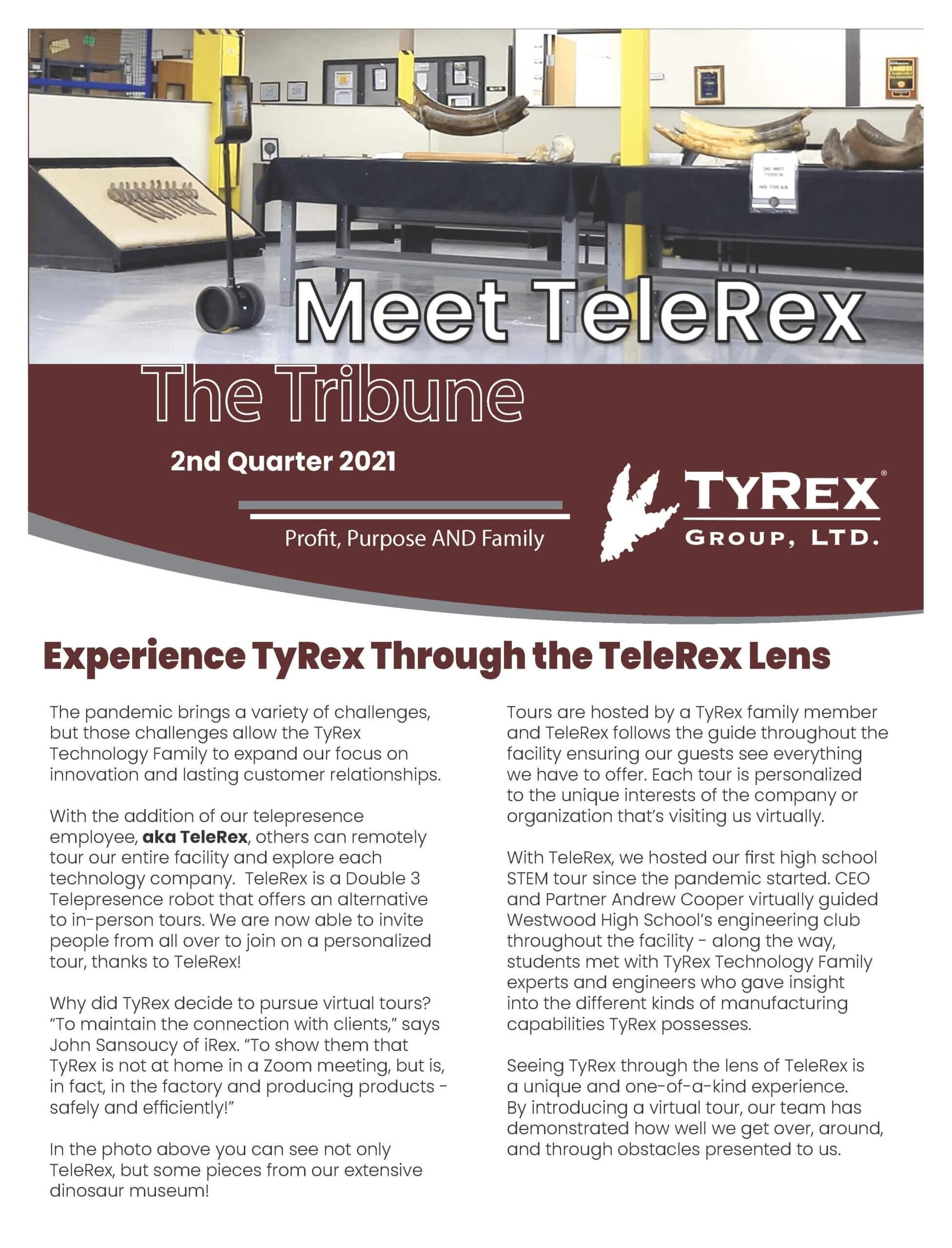 TyRex Newsletter Q2 (2021)