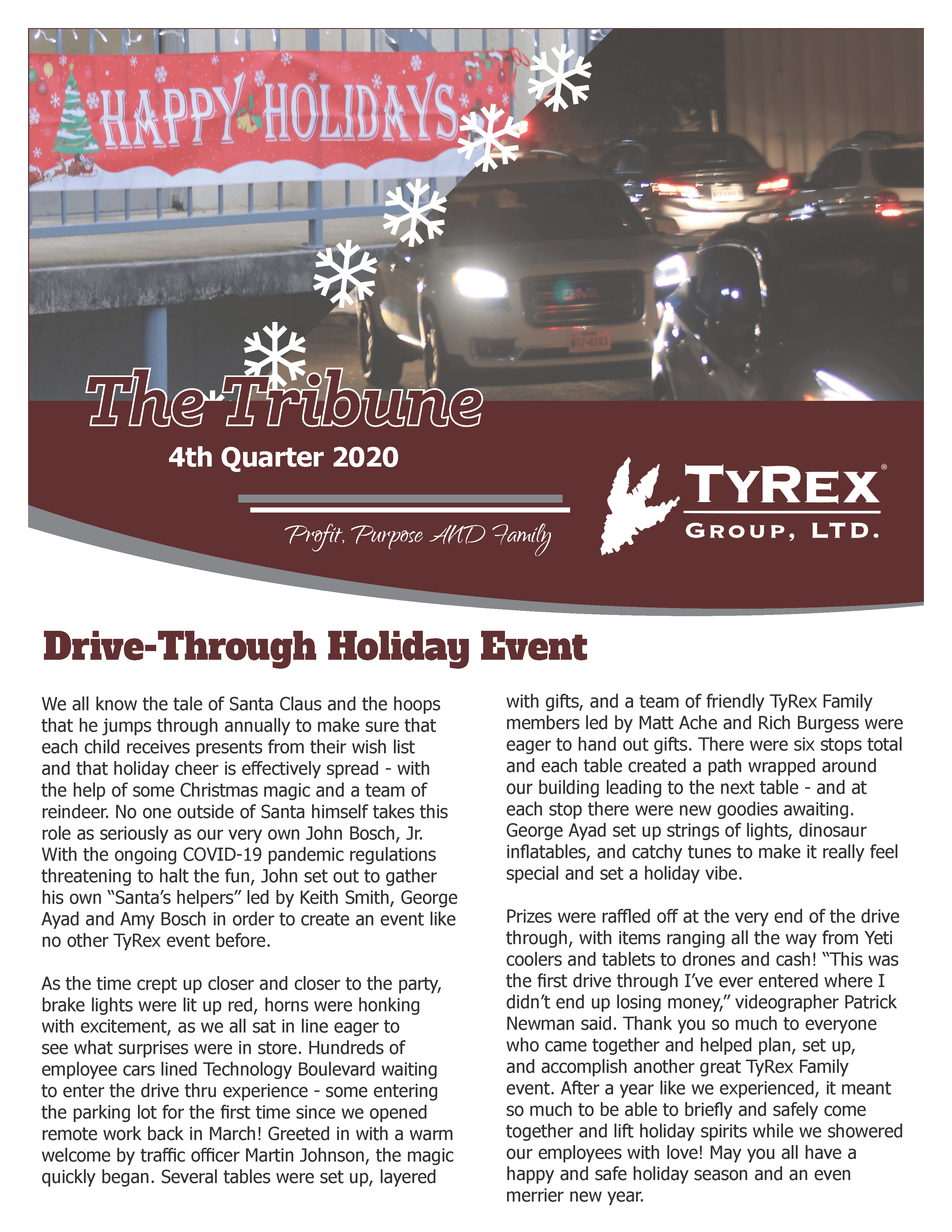 TyRex Newsletter Q4 (2020)