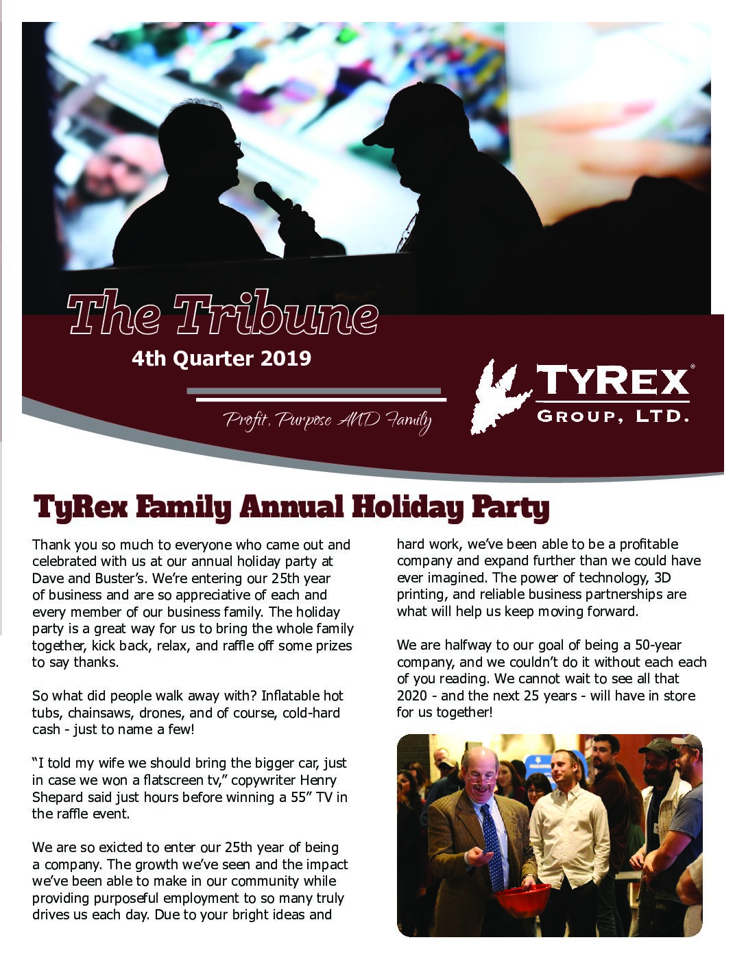 TyRex Newsletter Q4 (2019)