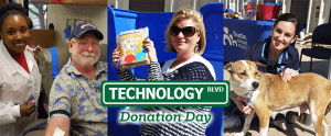 TyRex Graphic: Technology Blvd. Donation Day