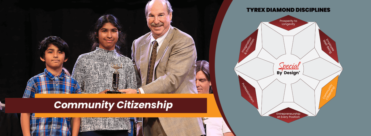 TyRex Graphic: Community Citizenship