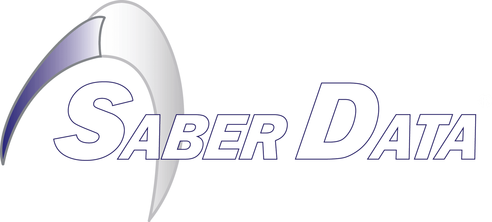 TyRex Logo: Saber Data - White