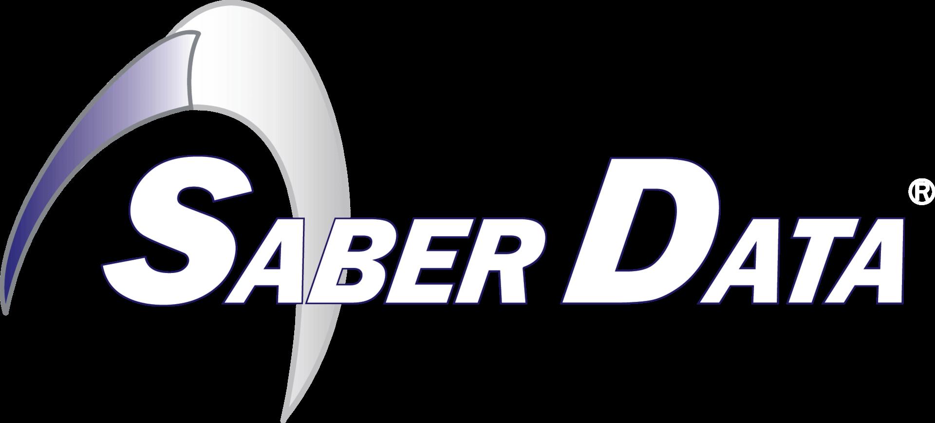 TyRex Logo: Saber Data - White