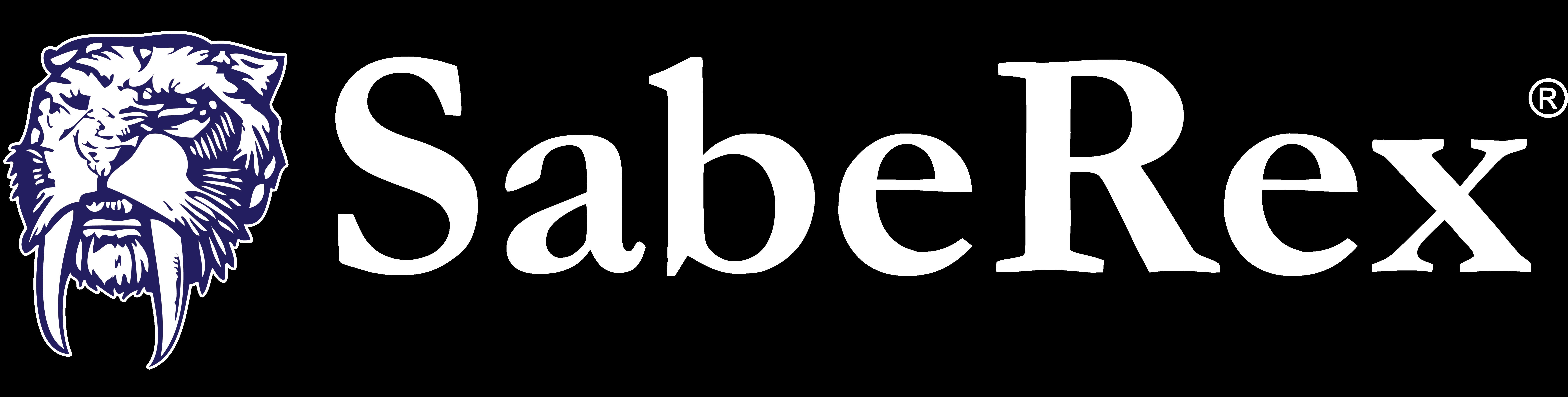 TyRex Logo: SabeRex - White