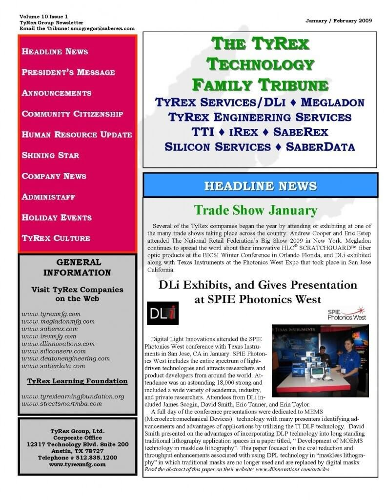 TyRex Newsletter: 1Q (2009)