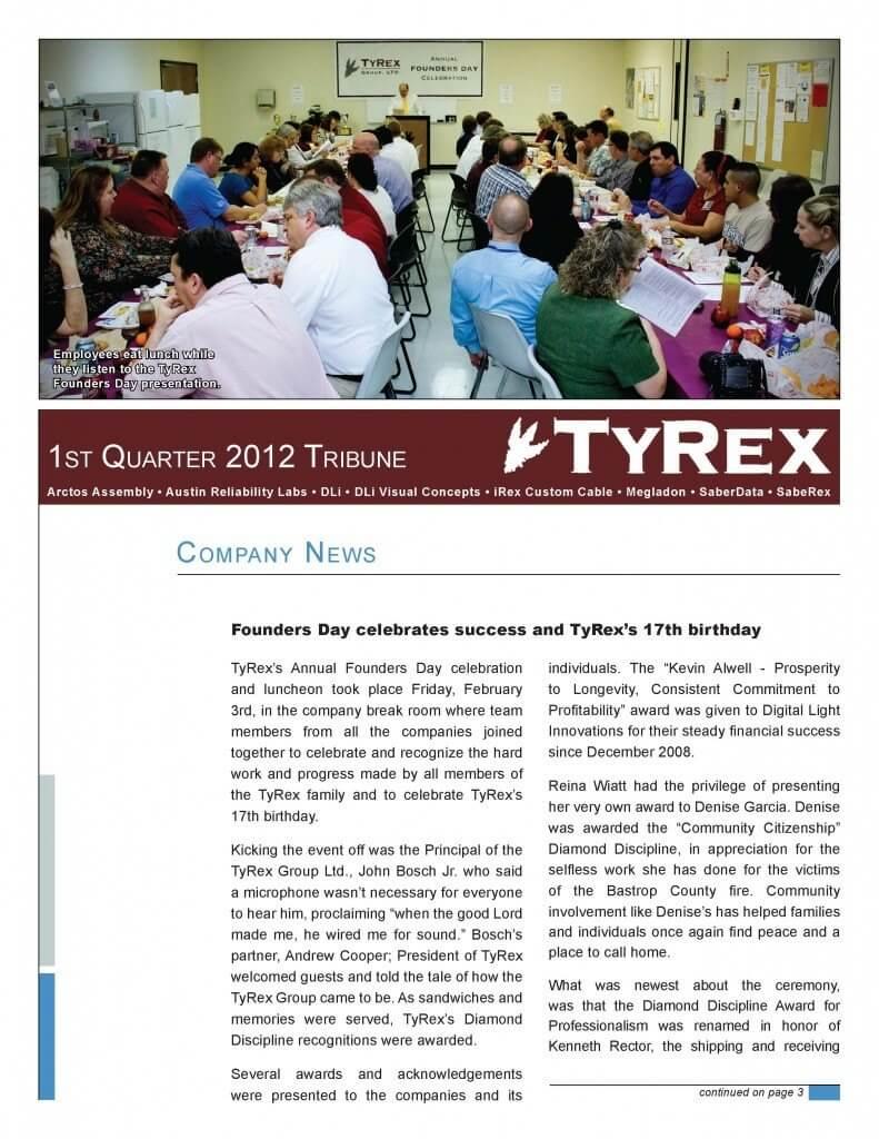 TyRex Newsletter: 1Q (2012)
