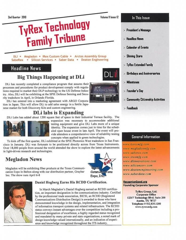 TyRex Newsletter: 2Q (2010)