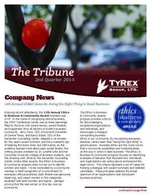TyRex Newsletter: 2Q (2014)