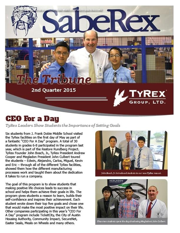 TyRex Newsletter: 2Q (2015)