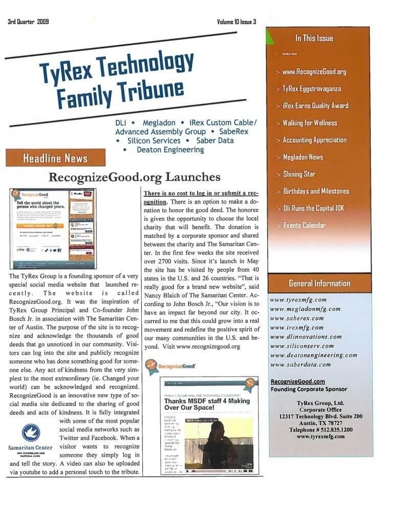 TyRex Newsletter: 3Q (2009)