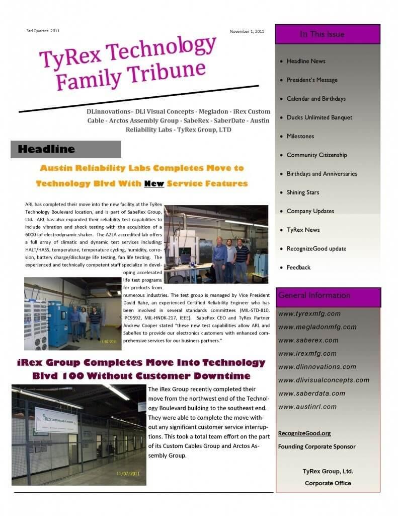 TyRex Newsletter: 3Q (2011)