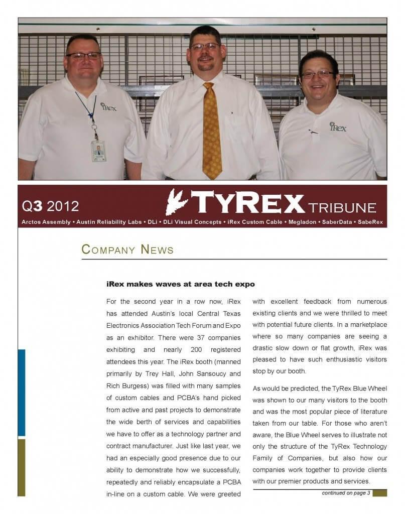 TyRex Newsletter: 3Q (2012)