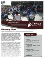 TyRex Newsletter: 3Q (2014)