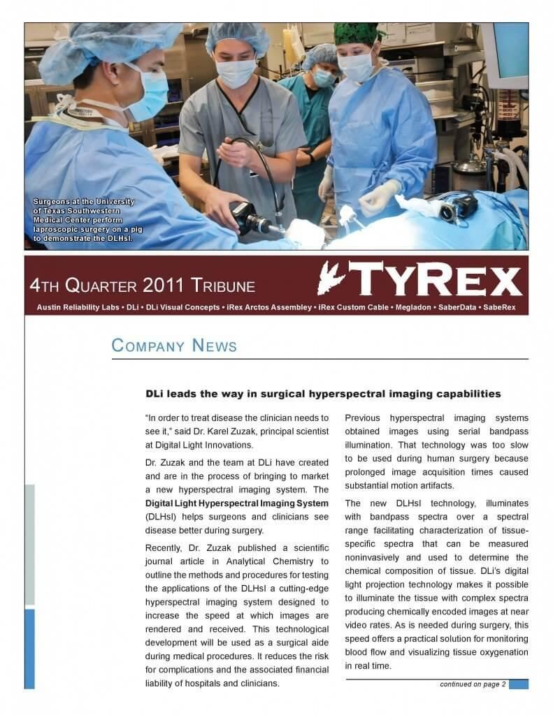 TyRex Newsletter: 4Q (2011)