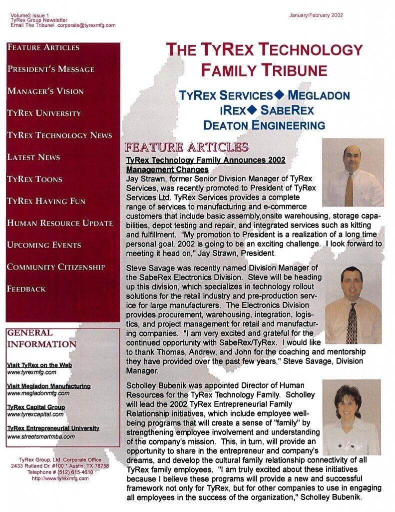 TyRex Newsletter: Jan-Feb (2002)