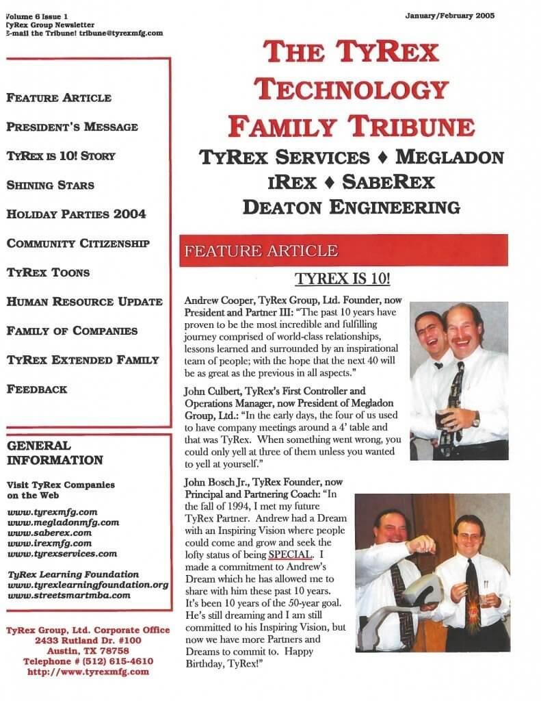 TyRex Newsletter: Jan-Feb (2005)