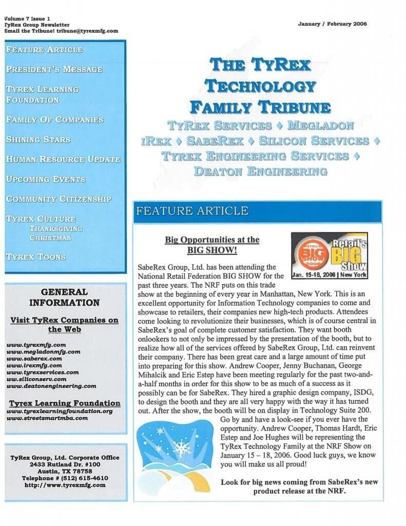 TyRex Newsletter: Jan-Feb (2006)