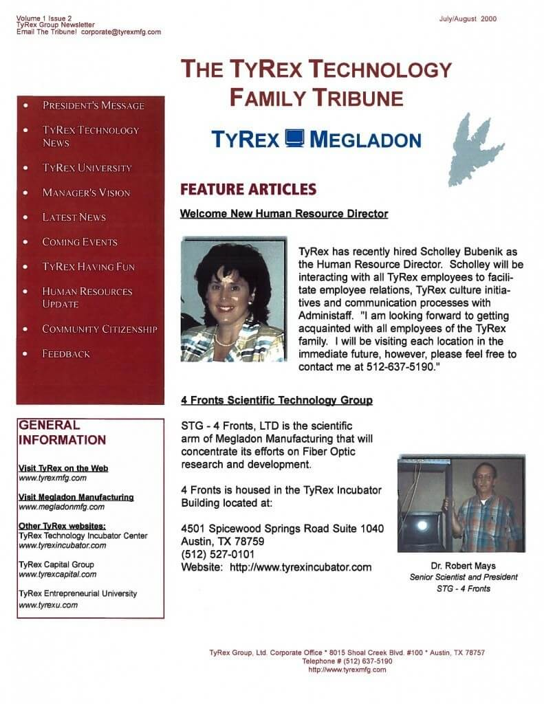 TyRex Newsletter: July-Aug (2000)