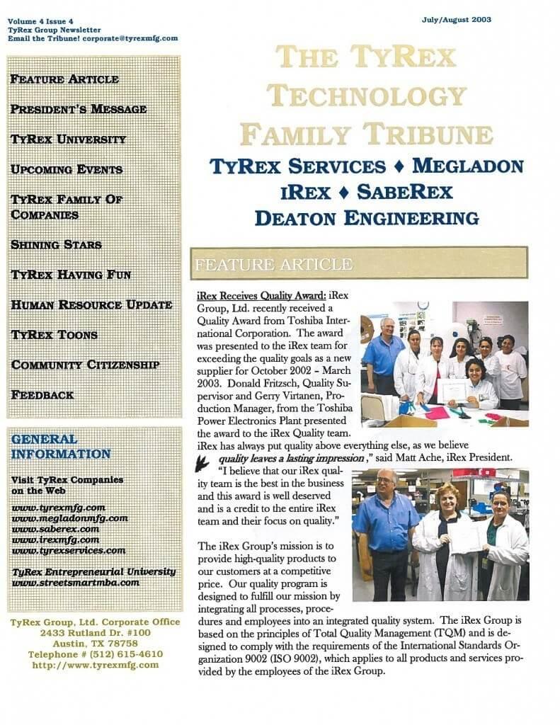 TyRex Newsletter: July-Aug (2003)