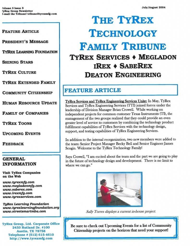 TyRex Newsletter: July-Aug (2004)