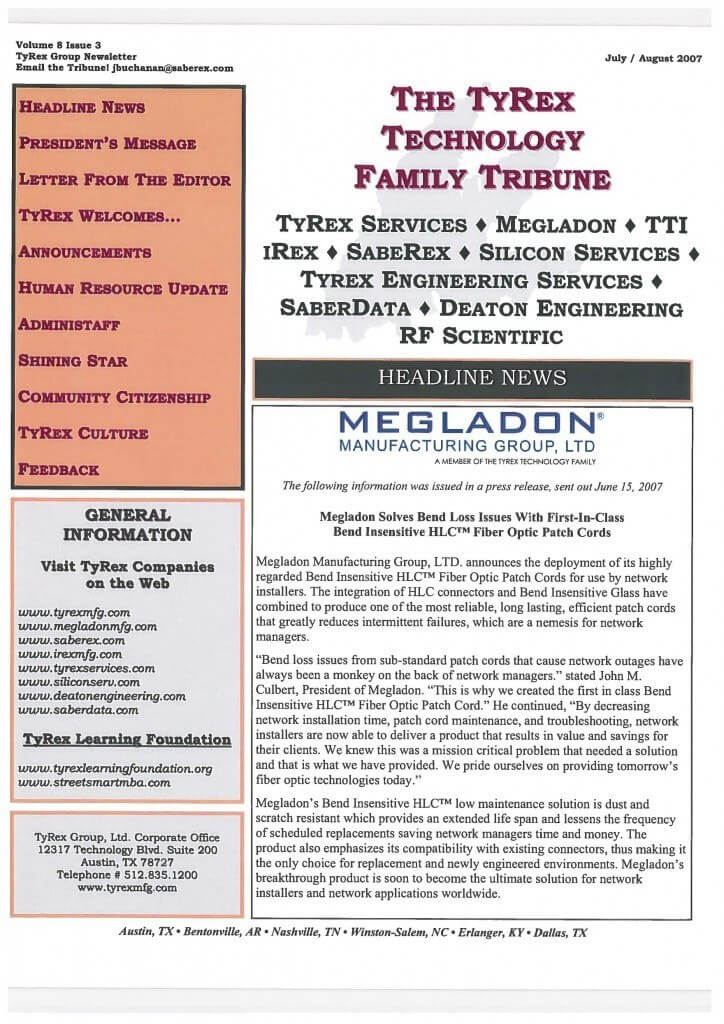 TyRex Newsletter: July-Aug (2007)