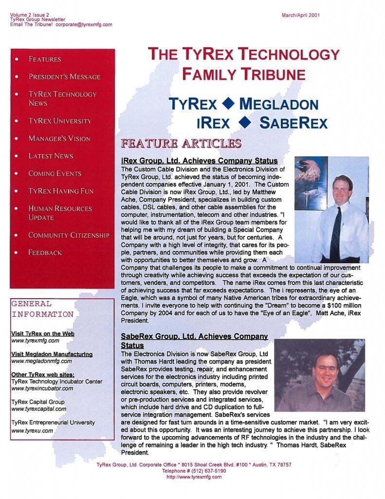 TyRex Newsletter: Mar-Apr (2001)