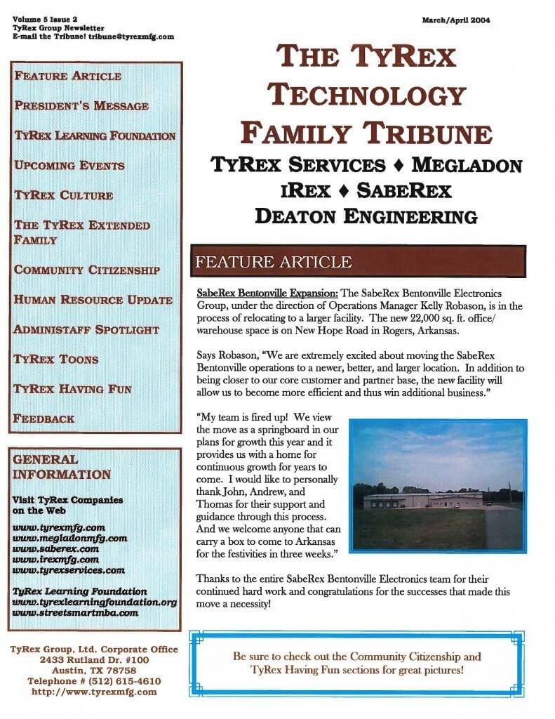 TyRex Newsletter: Mar-Apr (2004)