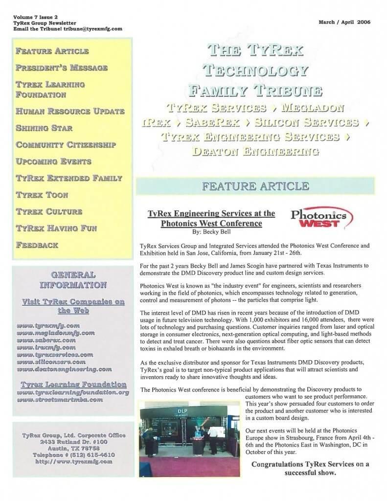 TyRex Newsletter: Mar-Apr (2006)