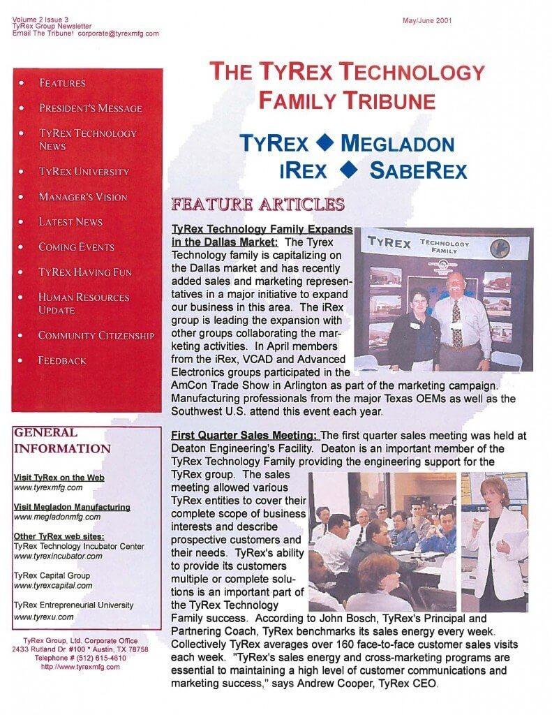 TyRex Newsletter: May-June (2001)