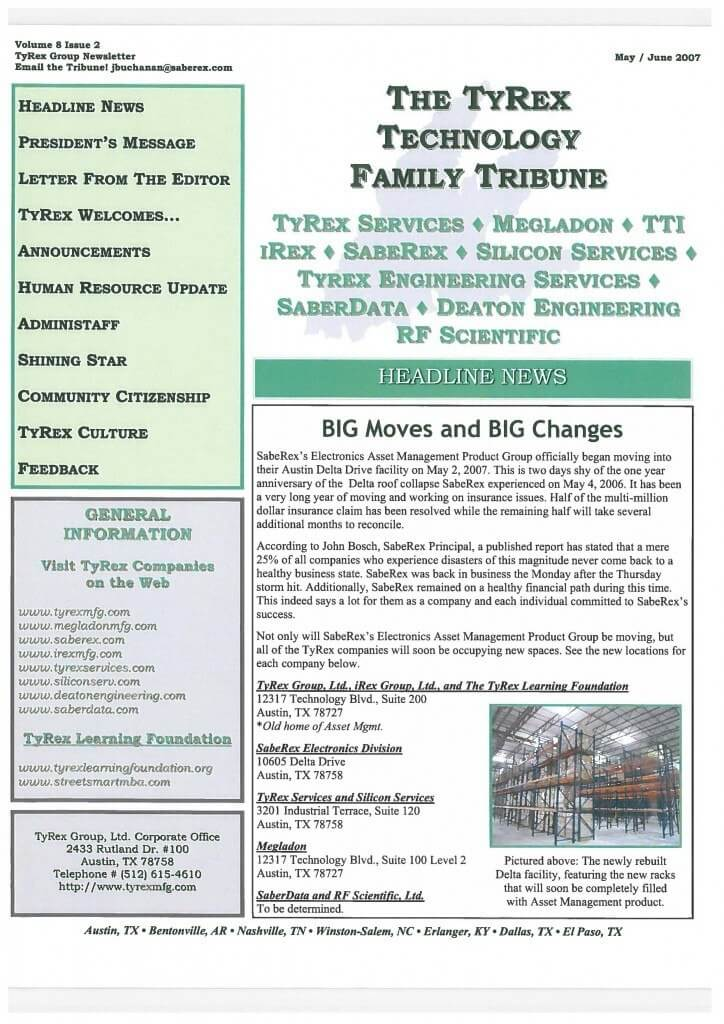 TyRex Newsletter: May-June (2007)