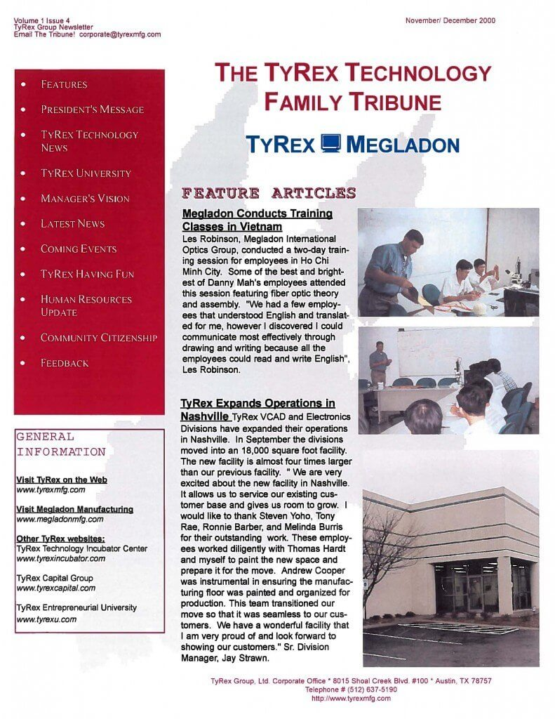 TyRex Newsletter: Nov-Dec (2000)