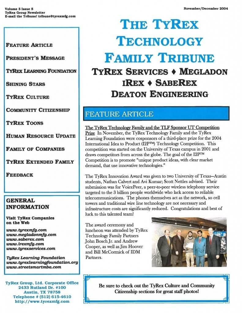 TyRex Newsletter: Nov-Dec (2004)