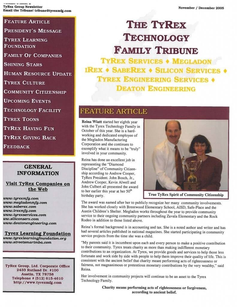 TyRex Newsletter: Nov-Dec (2005)