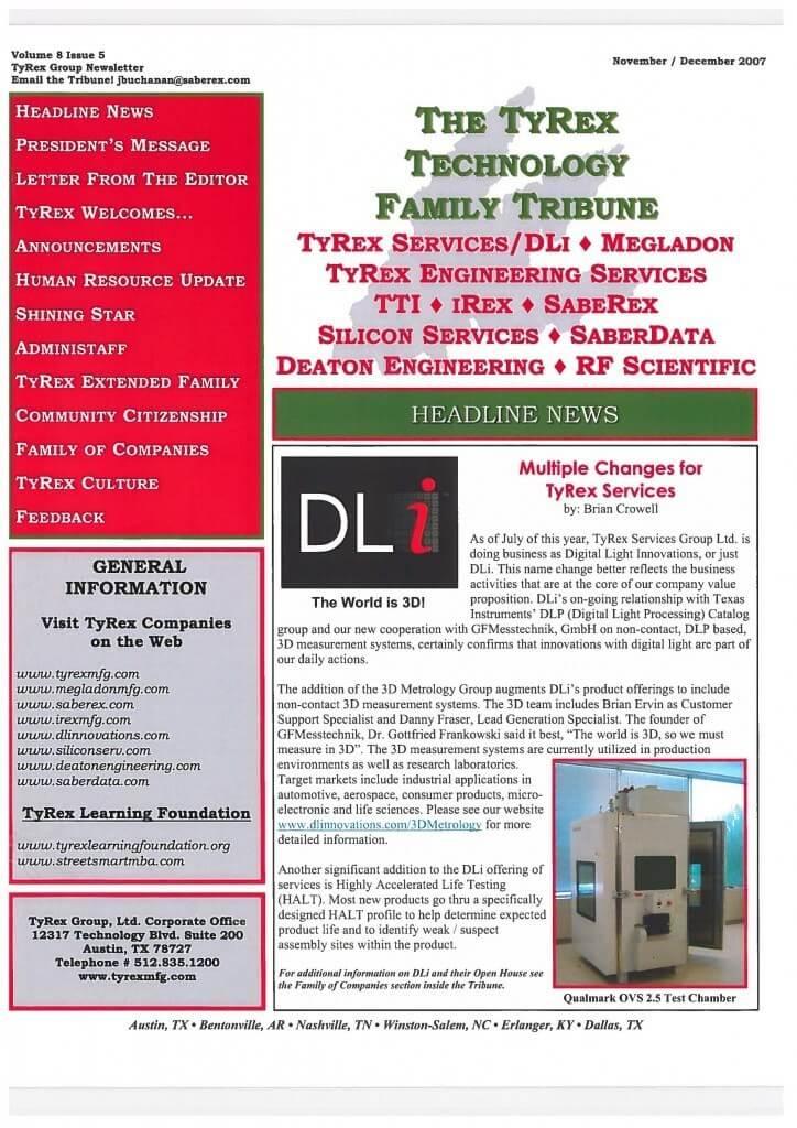 TyRex Newsletter: Nov-Dec (2007)