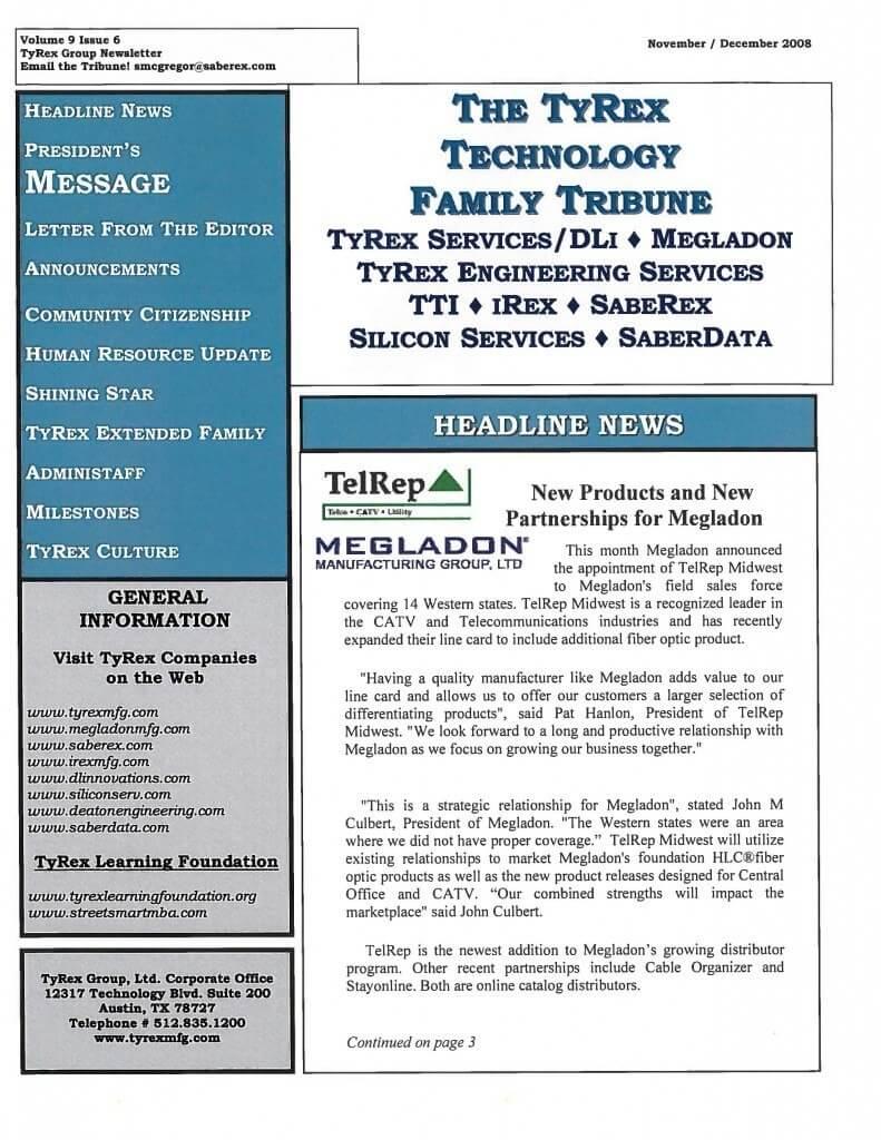TyRex Newsletter: Nov-Dec (2008)