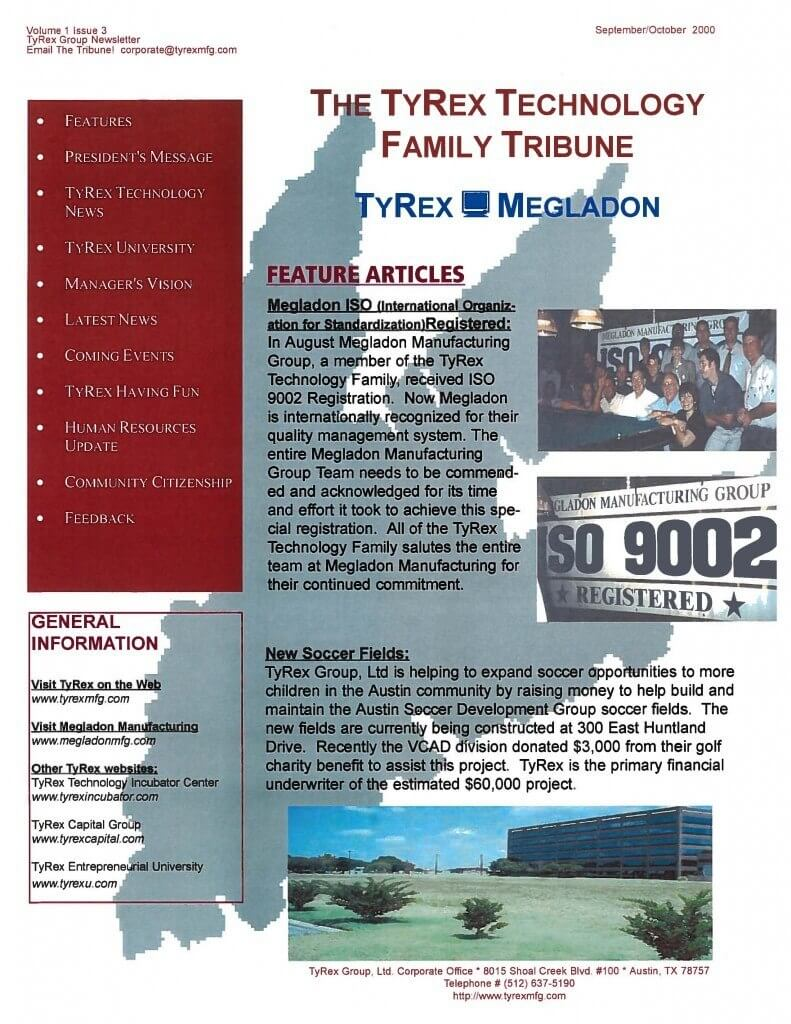 TyRex Newsletter: Sept-Oct (2000)