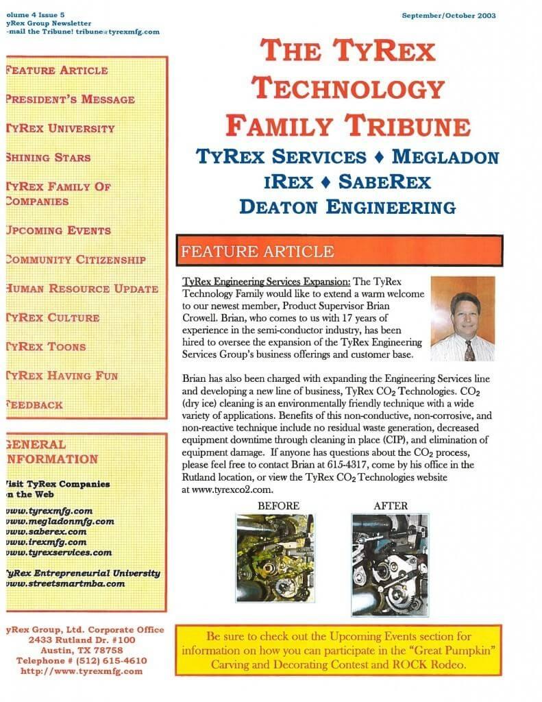 TyRex Newsletter: Sept-Oct (2003)