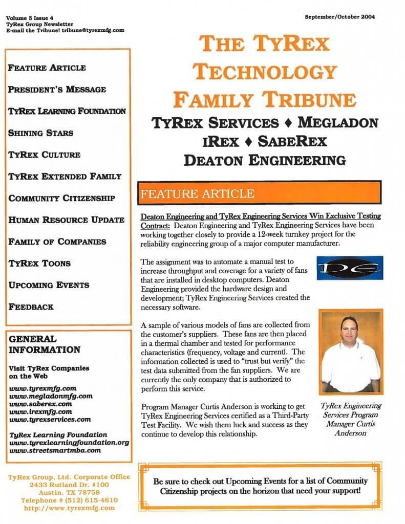 TyRex Newsletter: Sept-Oct (2004)