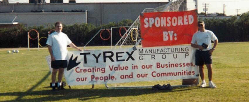 TyRex Photo: Soccer Field Dedication