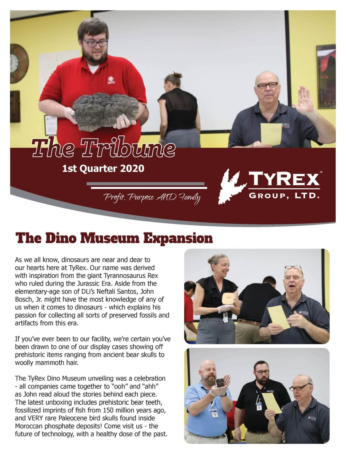 TyRex Newsletter Q1 (2020)