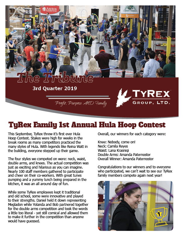 TyRex Newsletter Q3 (2019)