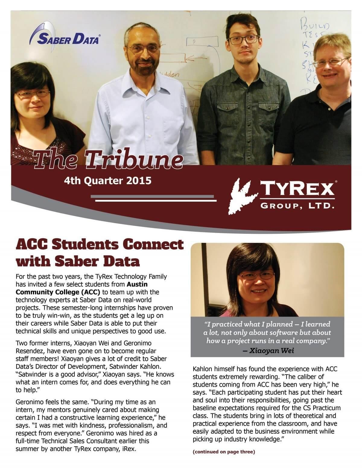 TyRex Newsletter: 4Q (2015)