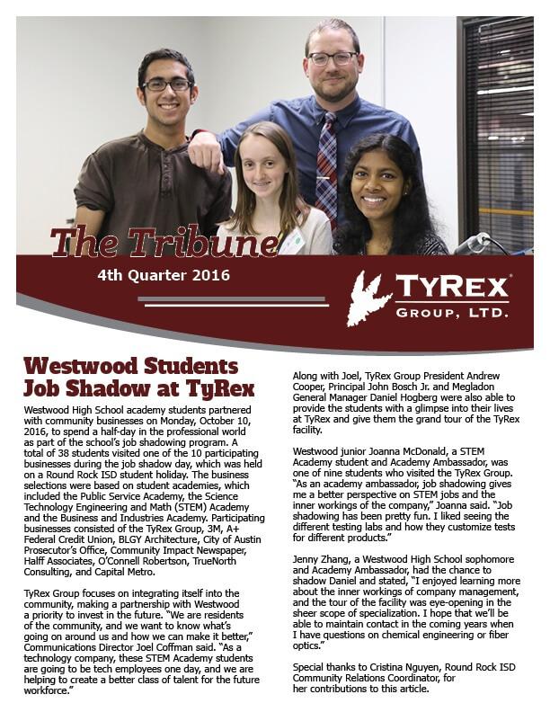 TyRex Newsletter: Q4 (2016)