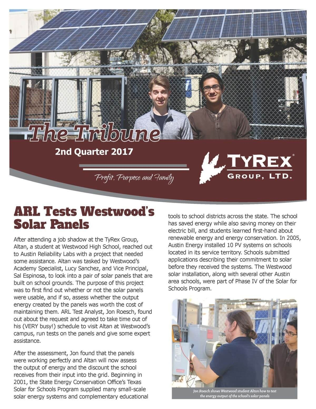 TyRex Newsletter - 2017 - Q2