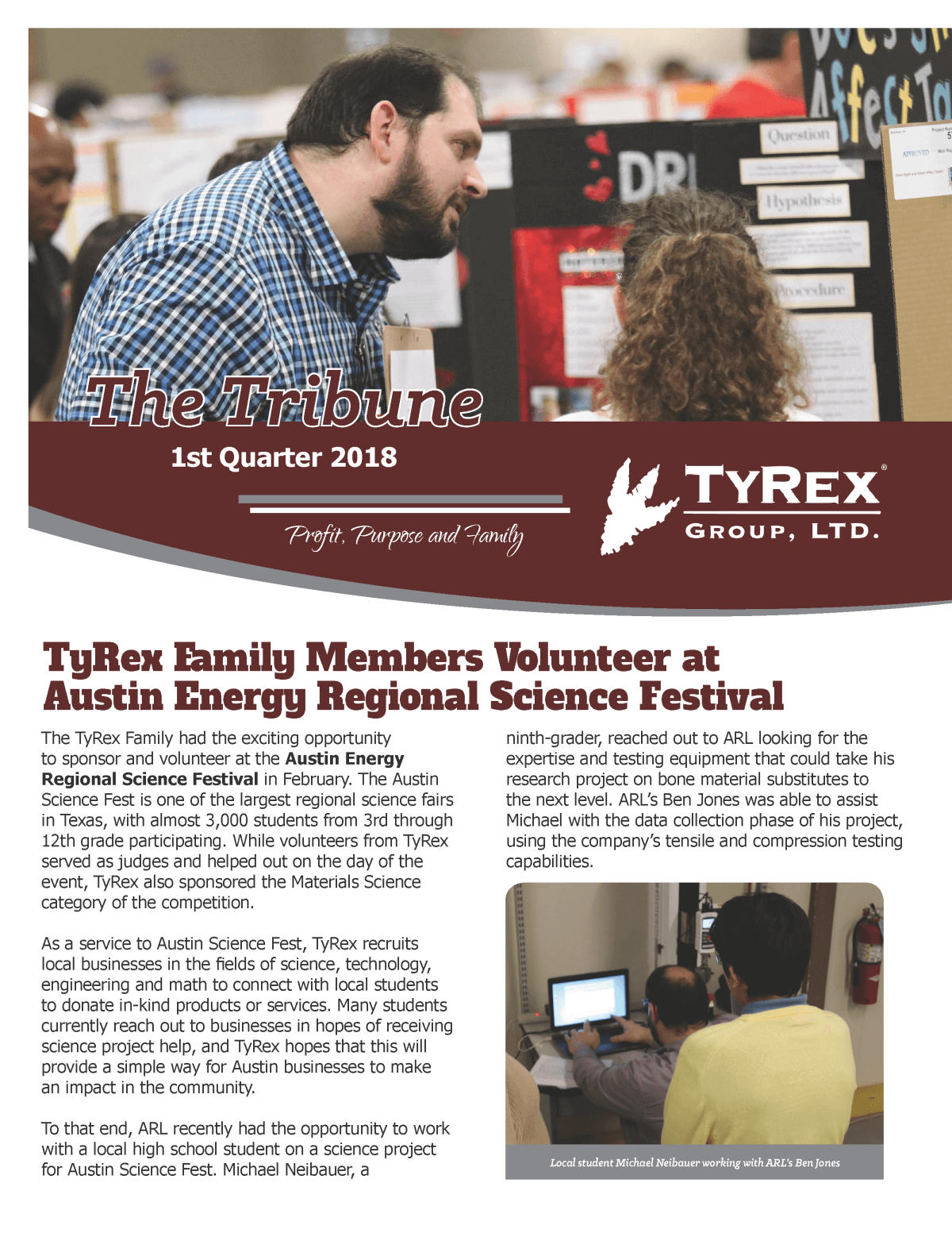 TyRex Newsletter - 2018 - Q1