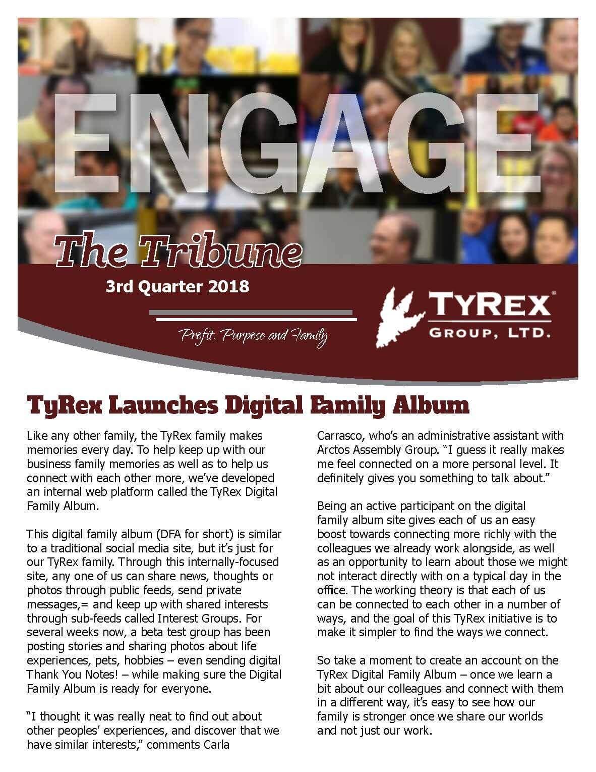 TyRex Newsletter - 2018 - Q3