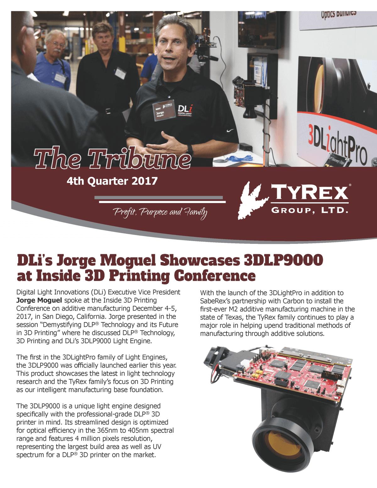 TyRex Newsletter - 2017 - Q4